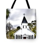 Church In A Small Town Tote Bag