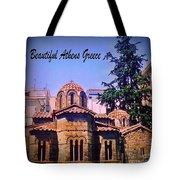 Church In Beautiful Athens Tote Bag