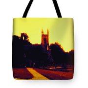 Church In Gold Tote Bag