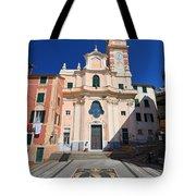church in Sori. Italy Tote Bag