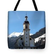 Church In The Austrian Alps Tote Bag