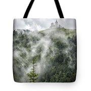 Church In The Clouds Tote Bag