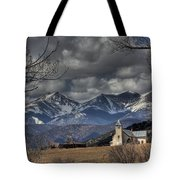 Church In The Hills Tote Bag