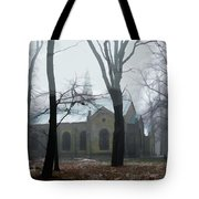 Church In The Misty Woods Tote Bag