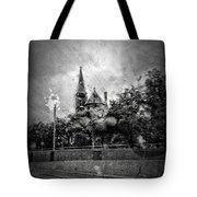 Church In The Rain Tote Bag