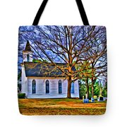 Church In The Wildwood - Paint Tote Bag