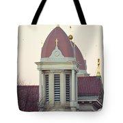 Church Of Gold Crosses Tote Bag