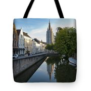 Church Of Our Lady Reflection Tote Bag
