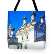 Church Of Simeon Stolpnik Tote Bag