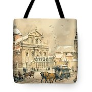Church Of St Peter And Paul In Krakow Tote Bag by Stanislawa Kossaka
