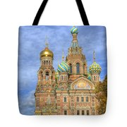 Church Of The Saviour On Spilled Blood. St. Petersburg. Russia Tote Bag