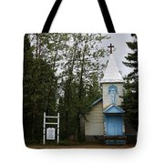 Church On Alaskan Highway Tote Bag