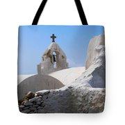 Church On Mykonos Tote Bag