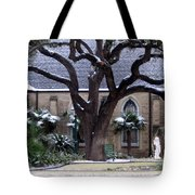 Church On Rosedale With A Dusting Of Snow Tote Bag