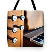 Church Organ Keyboard Tote Bag