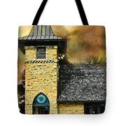 Church Painted Effect Tote Bag