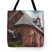 Church Red Door Tote Bag