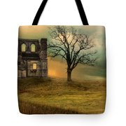 Church Ruin With Stormy Skies Tote Bag
