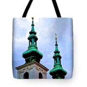 Church Steeples - Bratislava Tote Bag