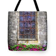 Church Window In Brittany Tote Bag by Elena Elisseeva