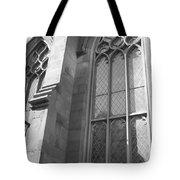 Church Windows And Subway Posts Tote Bag
