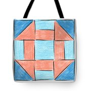 Churn Dash Block Tote Bag