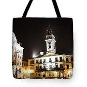 Cieszyn Town Center At Night Tote Bag
