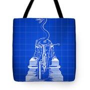 Cigar Lighter Patent 1888 - Blue Tote Bag