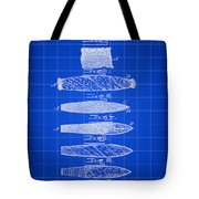 Cigar Patent 1887 - Blue Tote Bag
