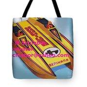 Cigarett Power Boat Illustration Tote Bag