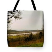Cincinnati And The Ohio River Looking West Tote Bag