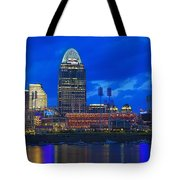 Cincinnati At Sunset Tote Bag