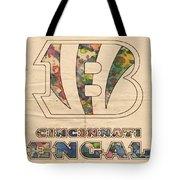 Cincinnati Bengals Logo Vintage Tote Bag