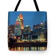 Cincinnati Blue Hour Tote Bag