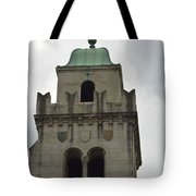 Cincinnati Church With Angel Carving And Bronze Cross Tote Bag