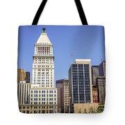 Cincinnati Downtown City Buildings Business District Tote Bag