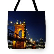 Cincinnati In Lights Tote Bag