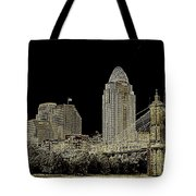 The Queen City Cincinnati Ohio Tote Bag