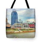 Cincinnati Reds Ballpark 9870 Tote Bag