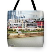 Cincinnati Riverfront 9870 Tote Bag