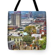 Cincinnati Rooftop 9965 Tote Bag