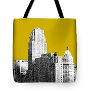 Cincinnati Skyline 2 - Gold Tote Bag