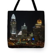 Cincinnati Skyline At Night Tote Bag