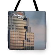 Cincinnati Skyline At Sunset Form The Top Of Mount Adams 3 Tote Bag