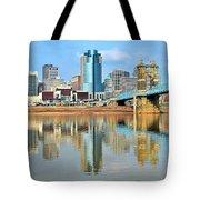 Cincinnati Skyline Reflects Tote Bag