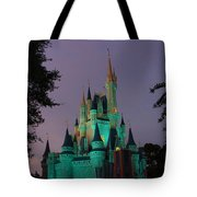 Cinderella Castle At Night  Tote Bag