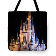 Cinderella's Castle In Magic Kingdom Tote Bag