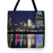 Cinicinnati At Dusk Tote Bag