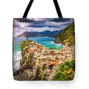 Cinque Terre Sunset Tote Bag