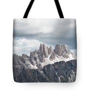 Cinque Torri Area In The Dolomites Tote Bag